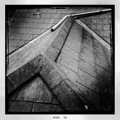 Roof (soilse) Tags: cameraphone ireland roof blackandwhite bw dublin building sol window glass monochrome architecture stairs gallery artgallery pipe panes august exhibition ridge frame slate oldbuilding windowframe iphone lookingout slates windowontheworld dawsonstreet roofridge glasspanes solartgallery appleiphone iphonephoto iphoneapp iphoneimage iphonography solart iphonographie hipstamatic hipstamaticapp hipstamaticcamera august2015 ridgeslates