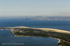 Sandy Hook and Manhattan Aerial View (Mike Black photography) Tags: world ocean park new two sky black beach mike nature water plane canon flying war long branch view aircraft air sandy nj aerial foundation b17 shore deal jersey ww2 asbury mitchell hook bomber fortress liberator b24 b25 collings