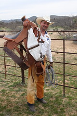 COWBOY PHOTO SHOOT (AZ CHAPS) Tags: ranch arizona leather spurs cowboy boots rope gloves chaps saddle wrangler