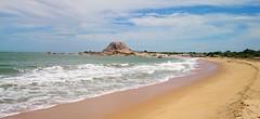 Large Inselberg  at Yala Beach, Patanangala,Sri Lanka (esala.kaluperuma) Tags: yala sri lanka inselberg panorama esala kaluperuma srilanka beach sea mostviewed 10000views patanangala sony sonyxperia sonyxperiaz2