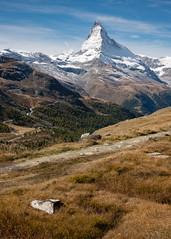 Swiss postcard (Tonton Dave) Tags: autumn mountain alps nature montagne alpes automne landscape switzerland suisse zermatt matterhorn paysage valais cervin