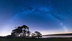 Waskerley Way Milky Way (Claire Willans) Tags: trees sky panorama lake nature water night rural dark landscape countryside skies durham nightscape space reservoir galaxy astrophotography milkyway countydurham darkskies waskerleyway