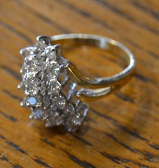 """19 STONE DIAMOND COCKTAIL RING • <a style=""""font-size:0.8em;"""" href=""""http://www.flickr.com/photos/51721355@N02/21250100123/"""" target=""""_blank"""">View on Flickr</a>"""