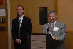 Shawn Ahern and William Gartside - 2008 (award ceremony) (BC High Archives) Tags: 2008 ahern gartside murphyalumniroom