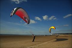 Kites on the beach (dennylyons) Tags: beach canon bluesky 24105mml dennylyons