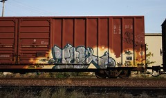 Tre (quiet-silence) Tags: railroad art train graffiti railcar boxcar graff tre freight nsf dethkult fr8 aok aok120034
