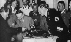 Ferdinand Porsche showcasing the Volkswagen Beetle to Adolf Hitler (Historystack) Tags: volkswagen adolfhitler porsche volkswagenbeetle rarephotos nazigermany ferdinandporsche automotiveindustry