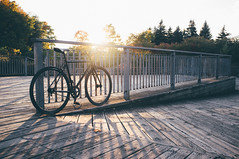 Another Day over... (everydayfuji) Tags: life street city travel light sunset urban lines bike bicycle backlight 35mm lights cycling shadows streetphotography lifestyle hobby journey fujifilm fixie fixedgear goldenhour backlighting x100 nogears