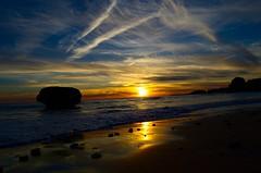 sunset in Portugal (sevenseb) Tags: magicmoments reflectsobsessions coucherdesoleilsunsetportugalmerseasunsoleilplagebeachprayaplayanuagecloudvagueswavessandsable