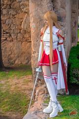 Asuna cosplay Photoshoot by @fanored (fano.red) Tags: fight boots cosplay skirt armor sword cosplayer sao prop blondewig strobist asuna swordartonline yuukiasuna maysakaali