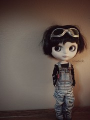 My Little Trouble Maker (Lawdeda ❤) Tags: fun doll with snake goggles trouble overalls mean blythe custom friday maker menace fbl as sammydoe ttya