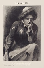 Suffrage campaigning: Undaunted! Oh, Justice, what crimes are practised in thy nameOct 1909