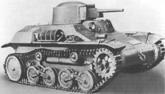 The Japanese Type 97 Te-Ke. The Type 97 was used on all fronts, but it's principal application was in China, where it was sometimes used for infantry support. Generally, the Type 97 was organized in companies of up to 17 vehicles.