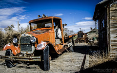 Ford at the Toulon Mill, Lovelock, Nevada (Mathew Mobley) Tags: new old rot history classic ford mill rotting car station photoshop wagon capri or nevada rustic 1954 newyorker chevy lincoln rusting chrysler timeless lovelock yorker toulon cs6
