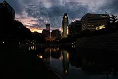 Omaha Skyline Reflection (Jamie.Sobczyk) Tags: sunset sky lake skyline us nebraska downtown unitedstates sony omaha a77 2015 scottkelbyworldwidephotowalk