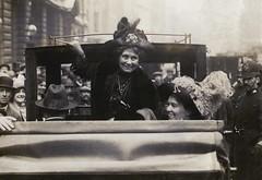 Emmeline Pankhurst and Emmeline Pethick Lawrence, c.1910.