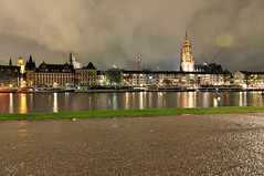 view to the cathedral (.) Tags: nightphotography night germany deutschland am nikon hessen nacht frankfurt main d5000