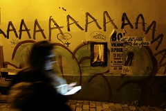 Shadow 350 - AAAAAAAAAAAA (Kairos !) Tags: street shadow wall night graffiti ghost streetphotography nightshots 365 project365 365days onephotoperday conceptualimage noflashnightshot 365project onephotooneday conceptphotos unjourunephoto