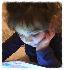 Studying for her upcoming Peppa Pig Exams! (The Stig 2009) Tags: lily grandchild granddaughter baby girl ipad peppa pig thestig2009 stig 2009 2017 tony o tonyo child cute