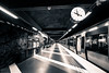 subway Stockholm (www.carbonat380.de) Tags: 4056 918 918mm blackandwhite gx7 lumix mzuiko mft microfourthirds olympus panasonic blackandwhitephotography clock platform stockholm subway sweden train travel travelphotography