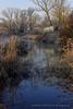 Reflejos del Tajo (Chema Fuentes Fdez) Tags: invierno ríotajo agua mañana escarcha caseta cañas paisaje azul cielo árboles frío