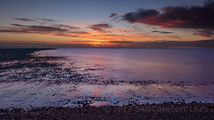 Winter sunrise at Church Norton (Nanooki) Tags: sussex westsussex selsey dawn sunrise sun clouds sea seafront winter seaside shore beach landscape sky coast cloud water ocean
