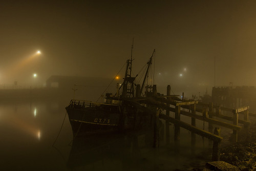 boat in the mist 1