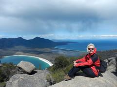 Mount Amos summit (LeelooDallas) Tags: australia tasmania freycinet peninsula sky cloud wineglass bay woods tree forest landscape dana iwachow nikon coolpix s9100