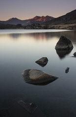 52 - 3 'Illumination' (RHughes5) Tags: landscape snowdon snowdonia north wales 52 week challenge light sunrise pink stones water long exposure composition hills early morning sky nikon d5500 reflection outdoors explored