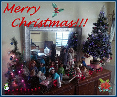 Merry Christmas 2016 (Livdollcity) Tags: doll dolls ellowyne tonner moxie teenz christmas rufus amber patsy patsyette delilah noir