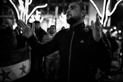 . (Thorsten Strasas) Tags: aleppo begegnungschor berlin botschaft chor fahne flagge fluechtlinge gefluechtete kundgebung russia russland schild schwarzweis syria syrien aleppoisburning chorus embassy flags hiphop musician protest rally savealeppo sign singer germany de