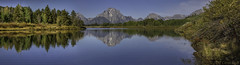 Oxbow Bend (GNPlover) Tags: oxbowbend grandtetonnationalpark mountmoran snakeriver jackson wyoming water mountains river trees reflection panorama canon landscape