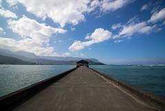 Hanalei Pier (kale.kanaeholo) Tags: kauaʻi hawaiʻi hanalei pier bay ocean sun surf sand sky sea
