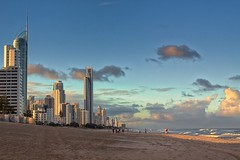 Evening at the Gold Coast (k009034) Tags: 500px waves australia copy space gold coast queensland tranquil scene buildings clouds evening ocean oceania people sand sean sky sunset travel destinations walking teamcanon