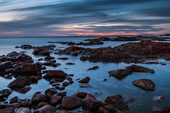 Birubi Point Sunset (w h i t e w i t h o n e) Tags: australia au newsouthwales nsw portstephens annabay birubipoint rocks rockpools ocean sea water clouds sunset beach seaside coast longexposure canoneos6d canonef1635mmf4lisusm