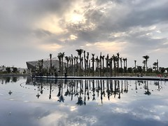 The newest landmark in Kuwait... (EHA73) Tags: fountain cultural kuwait sunset iphone7plus iphone iphonegraphy clouds sky opera music theater art sheikhjaberalahmadculturalcentre