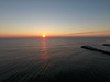 The sun rises over the Atlantic Ocean. Captured via a DJI Phantom 4. (apardavila) Tags: atlanticocean djiphantom4 jerseyshore manasquan manasquanbeach aerial drone sun sunrise