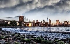 Brooklyn Bridge, New York (Domi Art Photography) Tags: autofocus newyork ny nyc manhattan usa etatsunis america amerique landscape cityscape river eastriver water hdr canon eos paysage urban