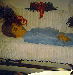 In Repose (~ Lone Wadi ~) Tags: deceased corpse dead funeral wake coffin casket retro 1970s unknown lady