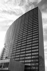 modernity in Oakland 4 (verona39) Tags: monochrone building modern oakland california downtown blackandwhite