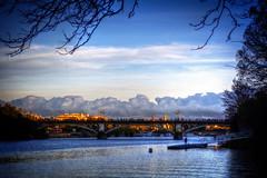 Puente de Triana - Sevilla (mgarciac1965) Tags: puente triana río guadalquivir sevilla seville andalucía andalucia andalusia españa spain atardecer horaazul nubes cielo azul sky