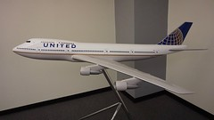 United Airlines 747 N199UA model. SFO. 2017. (planepics43) Tags: unitedairlines n199ua sfo sanfranciscoairport 747 maintenance sfoov airport model