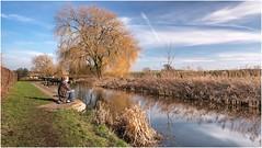 Contentment .................... (Alan Burkwood) Tags: nottinghamshire chesterfieldcanal fisherman foresttoplock le polariser 10stopfilter