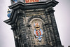 Westertoren Church Tower Amsterdam_ (K. McMahon) Tags: westertoren amsterdam arms canal canaltour church clouds coat coatofarms crown high inscription masonry prinsengracht protestant river stone three threexes toren tour tower westerkerk x xes