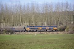 GBRf 66750 at North Anston [1 of 3] (parkgateparker) Tags: gbrf 66750 bristolpanelsignalbox syjnt southyorkshirejoint northanston