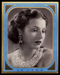 German Cigarette Card - La Jana