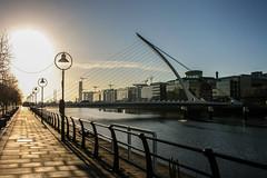 Too early on a Sunday (A Costigan) Tags: dublin docklands samuelbeckettbridge sundaymorning urban river liffey