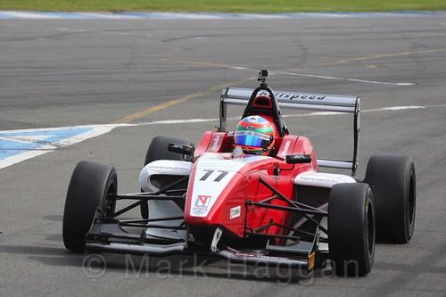 MGR Motorsport's Hernán Fallas in BRDC F4 Race Two at Donington Park, September 2015