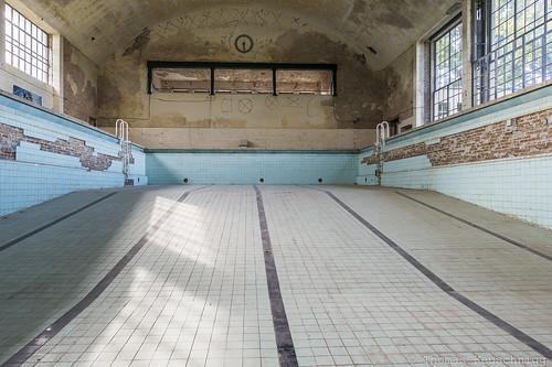 deep inside the swimming pool