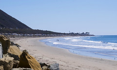 Beach Campers (Dtek1701) Tags: california santa travel beach water outside drive sand rocks fuji barbara pacificocean westcoast fujinon hwy1 xseries 101freeway xt1 fujix mirrorless xshooter xflens xtranssensor 18135oiswr